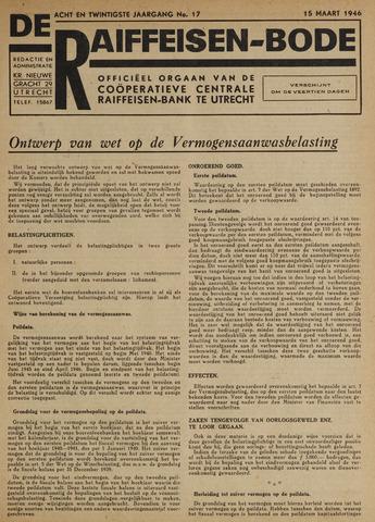 blad 'De Raiffeisen-bode' (CCRB) 1946-03-15