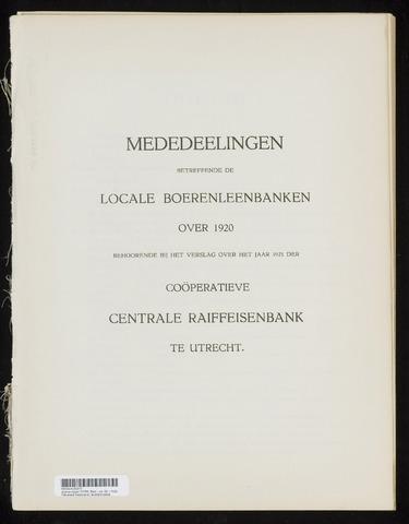 Mededelingen lokale banken CCRB 1920-12-31