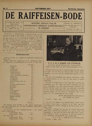 blad 'De Raiffeisen-bode' (CCRB) 1927-09-01
