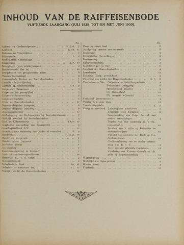blad 'De Raiffeisen-bode' (CCRB) 1929-07-01