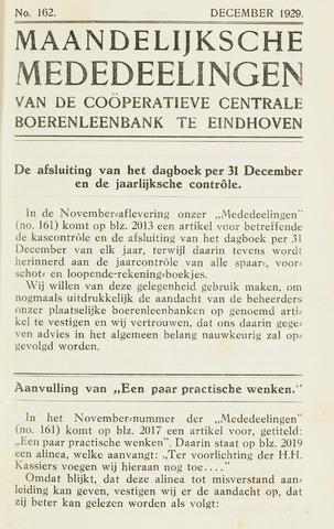 blad 'Maandelijkse Mededelingen' (CCB) 1929-12-01