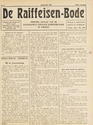 blad 'De Raiffeisen-bode' (CCRB) 1920-01-01