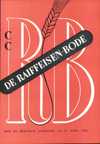 blad 'De Raiffeisen-bode' (CCRB) 1951-04-01