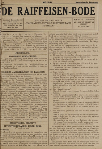 blad 'De Raiffeisen-bode' (CCRB) 1934-05-01