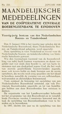 blad 'Maandelijkse Mededelingen' (CCB) 1936