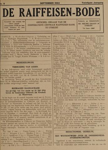 blad 'De Raiffeisen-bode' (CCRB) 1934-09-01