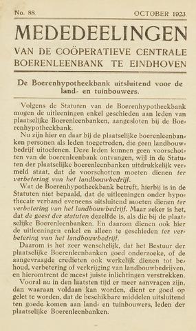 blad 'Maandelijkse Mededelingen' (CCB) 1923-10-01