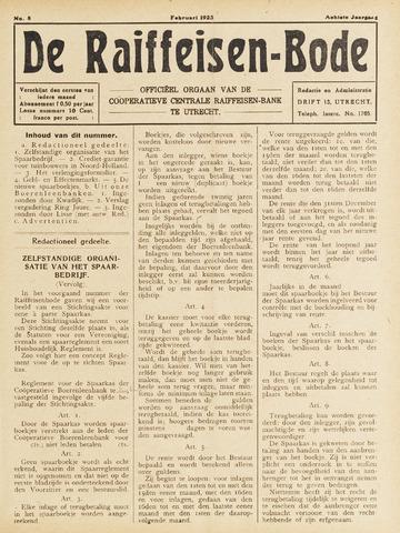 blad 'De Raiffeisen-bode' (CCRB) 1923-02-01