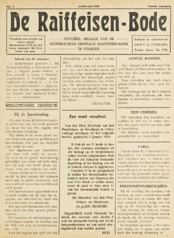 blad 'De Raiffeisen-bode' (CCRB) 1919