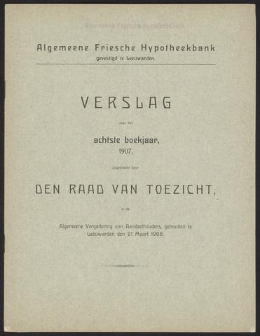 Jaarverslagen Algemeene Friesche Hypotheekbank 1907