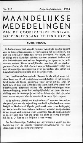 blad 'Maandelijkse Mededelingen' (CCB) 1954-08-01