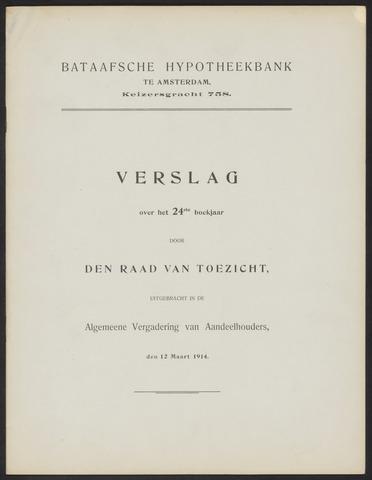 Jaarverslagen Bataafsche Hypotheekbank 1913
