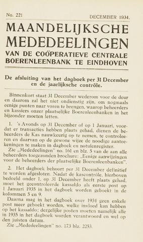 blad 'Maandelijkse Mededelingen' (CCB) 1934-12-01
