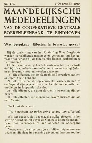 blad 'Maandelijkse Mededelingen' (CCB) 1930-11-01