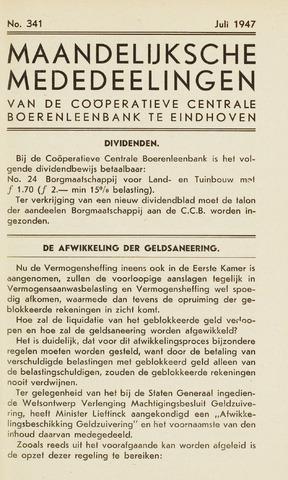 blad 'Maandelijkse Mededelingen' (CCB) 1947-07-01