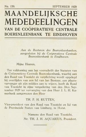 blad 'Maandelijkse Mededelingen' (CCB) 1929-09-01