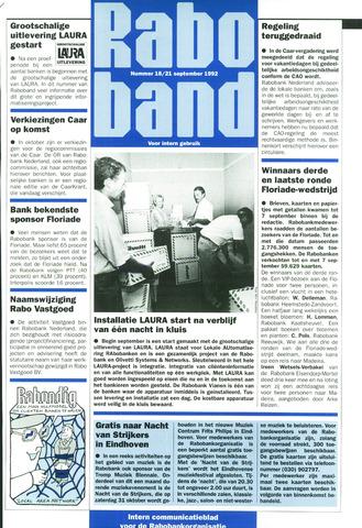 blad 'Raboband' 1992-09-21