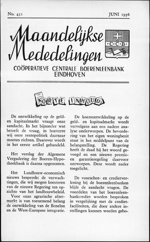 blad 'Maandelijkse Mededelingen' (CCB) 1956-06-01