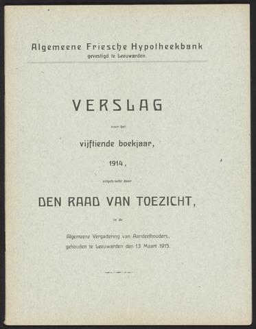 Jaarverslagen Algemeene Friesche Hypotheekbank 1914