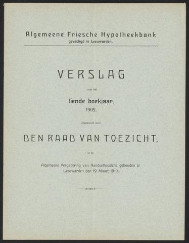 Jaarverslagen Algemeene Friesche Hypotheekbank 1909