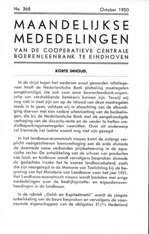 blad 'Maandelijkse Mededelingen' (CCB) 1950-10-01