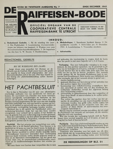 blad 'De Raiffeisen-bode' (CCRB) 1941-12-31