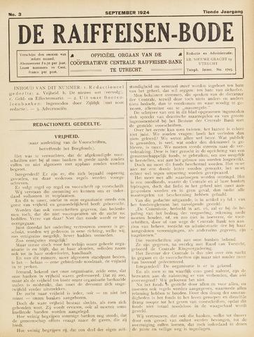 blad 'De Raiffeisen-bode' (CCRB) 1924-09-01