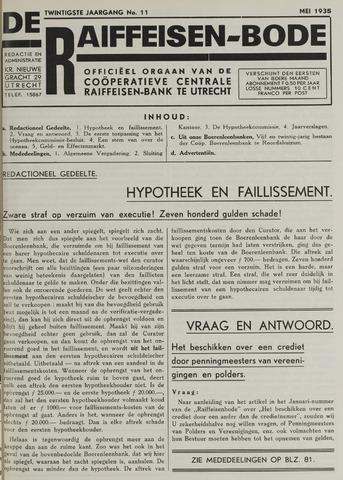 blad 'De Raiffeisen-bode' (CCRB) 1935-05-01