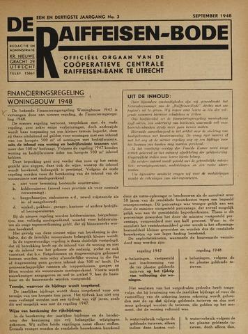 blad 'De Raiffeisen-bode' (CCRB) 1948-09-01