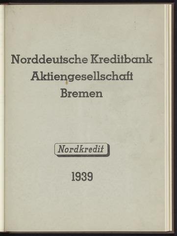 Geschäftsberichte Norddeutsche Kreditbank 1939-01-01
