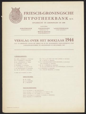 Jaarverslagen Friesch-Groningsche Hypotheekbank / FGH Bank 1944