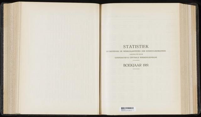Statistiek aangesloten banken CCB 1919