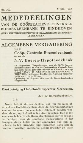 blad 'Maandelijkse Mededelingen' (CCB) 1942-04-01