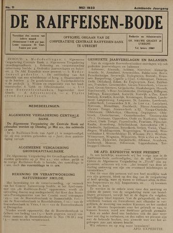 blad 'De Raiffeisen-bode' (CCRB) 1933-05-01