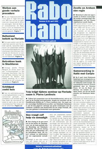 blad 'Raboband' 1992-04-21