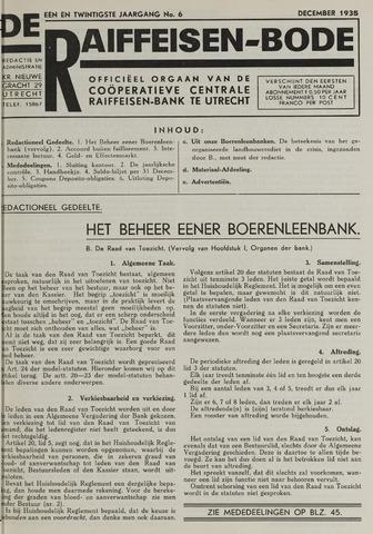 blad 'De Raiffeisen-bode' (CCRB) 1935-12-01