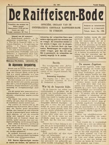 blad 'De Raiffeisen-bode' (CCRB) 1917-05-01