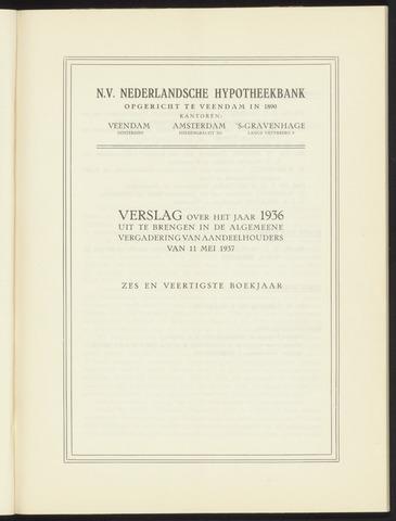 Jaarverslagen Nederlandsche Hypotheekbank 1936