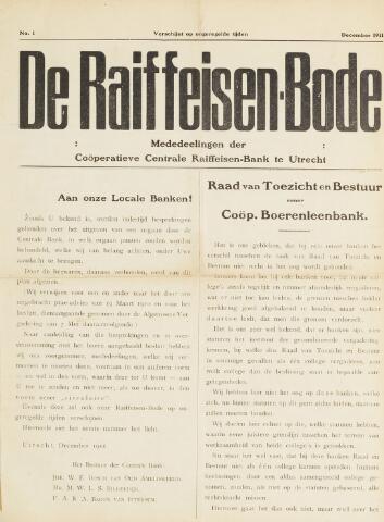 blad 'De Raiffeisen-bode' (CCRB) 1911-12-01