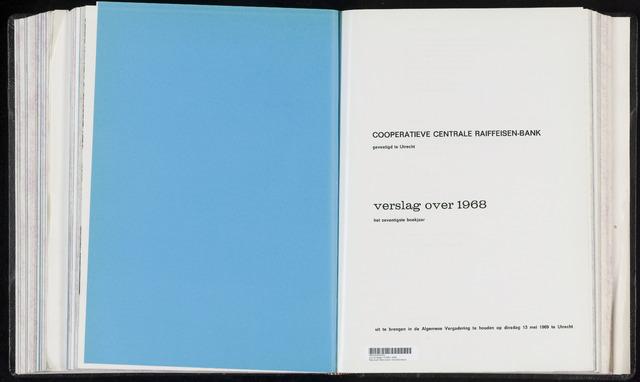 Jaarverslagen Coöperatieve Centrale Raiffeisen-Bank 1968-12-31