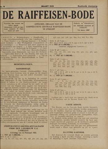 blad 'De Raiffeisen-bode' (CCRB) 1931-03-01