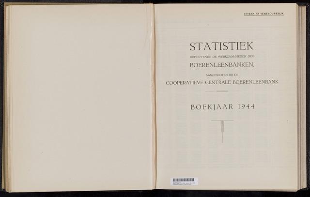 Statistiek aangesloten banken CCB 1944