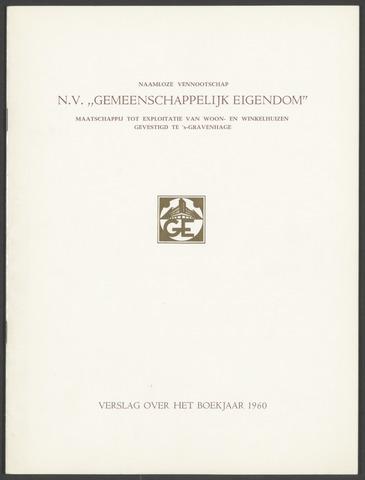 Jaarverslagen Gemeenschappelijk Eigendom 1960
