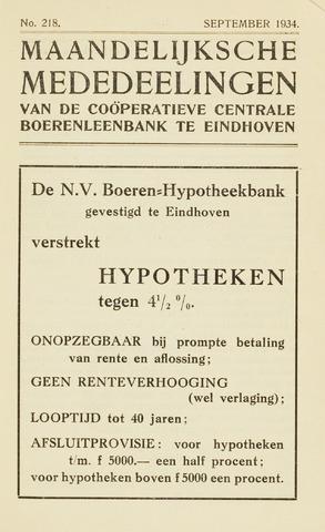 blad 'Maandelijkse Mededelingen' (CCB) 1934-09-01