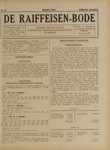 blad 'De Raiffeisen-bode' (CCRB) 1930-03-01
