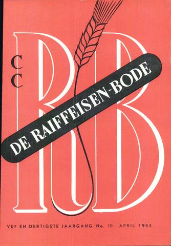 blad 'De Raiffeisen-bode' (CCRB) 1953-04-01