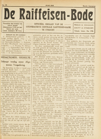 blad 'De Raiffeisen-bode' (CCRB) 1918-06-01