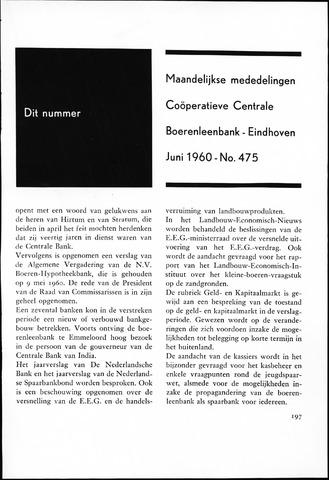 blad 'Maandelijkse Mededelingen' (CCB) 1960-06-01