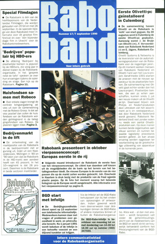 blad 'Raboband' 1990-09-07