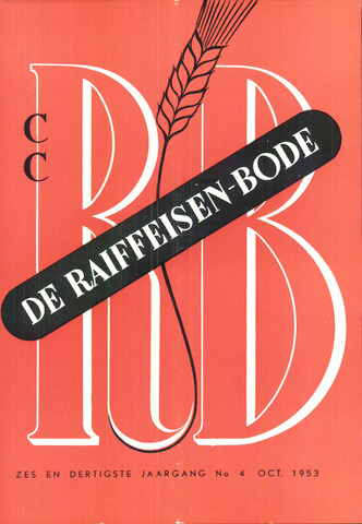 blad 'De Raiffeisen-bode' (CCRB) 1953-10-01
